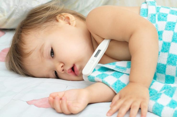 Температура у детей при ангине