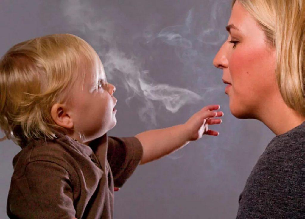 Вред детям от курящих
