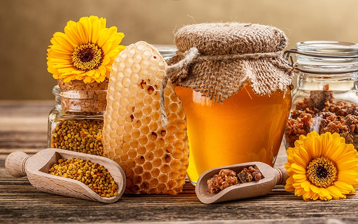 Мед при ангине